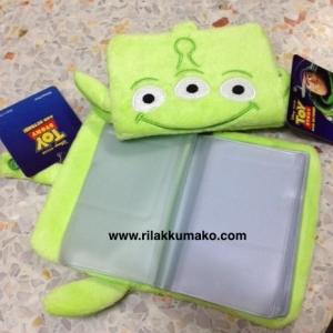 กระเป๋าใส่บัตร ลาย ตัวเขียว3ตา จากเรื่อง Toy Story ใส่บัตรได้20ใบ