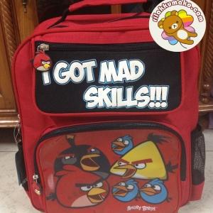 กระเป๋านักเรียน แองกี้ เบิร์ด Angry Birds ขนาด 12x14นิ้ว