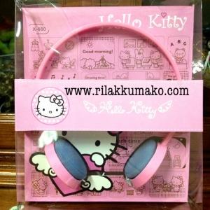 หูฟัง คิตตี้ Hello Kitty สีชมพู เสียงดี