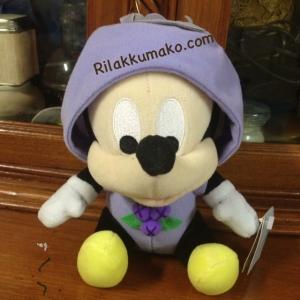 ตุ๊กตา มิกกี้เมาส์ Mickey Mouse ชุดองุ่นสีม่วง ถอดหมวกได้ ขนาด 6นิ้ว