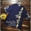 เสื้อทรงเก๋สไตล์วินเทจคอวีแขนยาวศอก thumbnail 6
