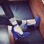 Pre รองเท้าคัทชู ส้นสูง ราคาถูก มีไซด์ 34-43