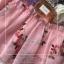 แม็กซี่เดรสทรงเปิดไหล่สีชมพูงานปักดอกไม้ thumbnail 6