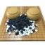 ชุดกระดานหมากล้อมไม้ไผ่พับได้พร้อมเม็ดพลาสติกอย่างแข็งและโถรูปพลาสติกทรงหวาย thumbnail 1