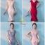 เดรสลูกไม้ทางหางปลาระบาย-สีชมพูหวาน thumbnail 8