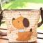 ** พร้อมส่งค่ะ ** กระเป๋าสะพายข้าง ลายหมาน้อย สีน้ำตาล thumbnail 4