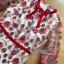 เดรสผ้าลูกไม้ทอลายดอกไม้และตกแต่งดอกไม้สีแดง thumbnail 5