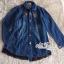 Jacket ยีนส์งานเกาหลี ประดับผ้าลูกไม้สีดำปลายเสื้อ thumbnail 5