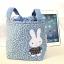 ** พร้อมส่งค่ะ ** กระเป๋าหูรูด ลายกระต่าย สีฟ้า thumbnail 1