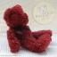 หมีนั่งสีแดงเข้ม สูง 25 ซม. thumbnail 2
