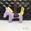 พวงกุญแจ ที่ห้อยกระเป๋า รูปม้า หนัง PU สีม่วงอ่อน thumbnail 2
