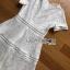 เดรสผ้าลูกไม้สีขาวตัดต่อเลเยอร์ลาย thumbnail 8