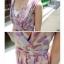 Chu ViVi เดรสแฟชั่นคอคอวีป้ายแขนกุดผ้าซีฟอง thumbnail 4