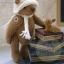 ตุ๊กตาหมีผ้าขนสีน้ำตาลกลางขนาด 19 cm. - Lilac thumbnail 4