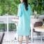 เดรสผ้าฝ้ายลินินเกาหลี ปักดอกไม้ thumbnail 9