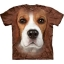 The Mountain Big Face Beagle Dog T-Shirts thumbnail 1