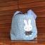 ** พร้อมส่งค่ะ ** กระเป๋าหูรูด ลายกระต่าย สีฟ้า thumbnail 6
