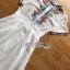 เดรสผ้าชีฟองสีขาวปักลายตกแต่งพลีต thumbnail 4