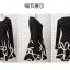 เดรสแฟชั่นเกาหลีเสื้อแขนยาวตัดต่อกระโปรงดีเทลปักลายโทนสีขาว(แถมเข็มขัด)มี S / L thumbnail 7
