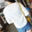 เสื้อแฟชั่นคอกลมสีขาวแขนยาวตัดต่อผ้าลูกไม้ลายดอกไม้สีขาวค่ะ thumbnail 11