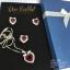 เซ็ทสร้อยคอ ต่างหู แหวน คริสตัลรูปหัวใจสีแดงทับทิม ล้อมเพชร thumbnail 1