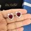 เซ็ทสร้อยคอ ต่างหู แหวน คริสตัลรูปหัวใจสีแดงทับทิม ล้อมเพชร thumbnail 5