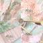 จั้มสูทขาสั้น เนื้อผ้าorganzaปักทอลายดอกดอกไม้สีหวาน thumbnail 6