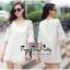 เสื้อลูกไม้ตัวยาวสไตล์เกาหลี thumbnail 2
