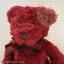 หมีนั่งสีแดงเข้ม สูง 25 ซม. thumbnail 3