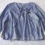 เสื้อเนื้อผ้าคอตตอนพิมพ์ลายริ้วคลาสสิคโทนสีฟ้า thumbnail 4