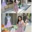 Chu ViVi เดรสแฟชั่นคอคอวีป้ายแขนกุดผ้าซีฟอง thumbnail 3