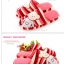 พร้อมส่ง รองเท้าแตะน้องหมีน่ารัก สีแดง thumbnail 3