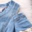 เดรสแฟชั่นผ้ายีนส์เปิดไหล่ช่วงปลายแขนแต่งผ้าลูกไม้ ด้านหน้าปักลายน่ารักม๊ากมากค่ะพร้อมส่งไซส์ M thumbnail 11