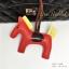 พวงกุญแจ ที่ห้อยกระเป๋า รูปม้า หนัง PU สีแดง thumbnail 2