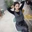 Chu ViVi เดรสแฟชั่นแขนกุดคอปกผ้ายืดเนื้อหนา thumbnail 4