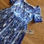 เดรสผ้าเครปพิมพ์ลายสีฟ้า-ขาวสไตล์แบรนด์ thumbnail 5