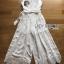 จัมป์สูทขายาวผ้าลินินตกแต่งลูกไม้สีขาว thumbnail 5