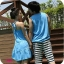 ชุดคู่รัก สีฟ้าสกรีนหัวใจตรงอกค่ะ thumbnail 2