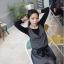 Chu ViVi เดรสแฟชั่นแขนกุดคอปกผ้ายืดเนื้อหนา thumbnail 5