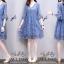 ชุดเดรสผ้าชีฟองญี่ปุ่นสีฟ้า thumbnail 3