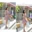 Chu ViVi เดรสแฟชั่นคอคอวีป้ายแขนกุดผ้าซีฟอง thumbnail 2
