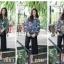 เสื้อผ้าเกาหลีขึ้นลายในตัว พิมพ์ลายดอกไม้ thumbnail 1