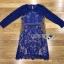 ชุดเดรสผ้าลูกไม้สีน้ำเงินสด ทรงบอดี้คอน thumbnail 5