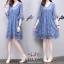 ชุดเดรสผ้าชีฟองญี่ปุ่นสีฟ้า thumbnail 4