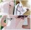 เดรสผ้าทูลเลปักลายดอกไม้สีชมพูอ่อน thumbnail 4