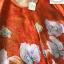 เดรสทรงปล่อย สีส้มทองพิมลายดอกไม้ ชุดนี้ใช้ผ้าซาตินผสมผ้าไหม thumbnail 6