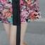 Prenair เดรสออกงานเข้ารูปคอปกแขนกุดลายดอกกุหลาบสีสวยเชียวค่ะใส่ออกงานได้มีไซส์ S,M,L thumbnail 13