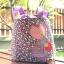 ** พร้อมส่งค่ะ ** กระเป๋าหูรูด ลายเด็กผู้หญิง สีม่วง thumbnail 5