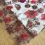เดรสผ้าลูกไม้ทอลายดอกไม้และตกแต่งดอกไม้สีแดง thumbnail 8