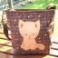 ** พร้อมส่งค่ะ ** กระเป๋าสะพายข้าง ลายแมวน้อย สีน้ำตาล thumbnail 4